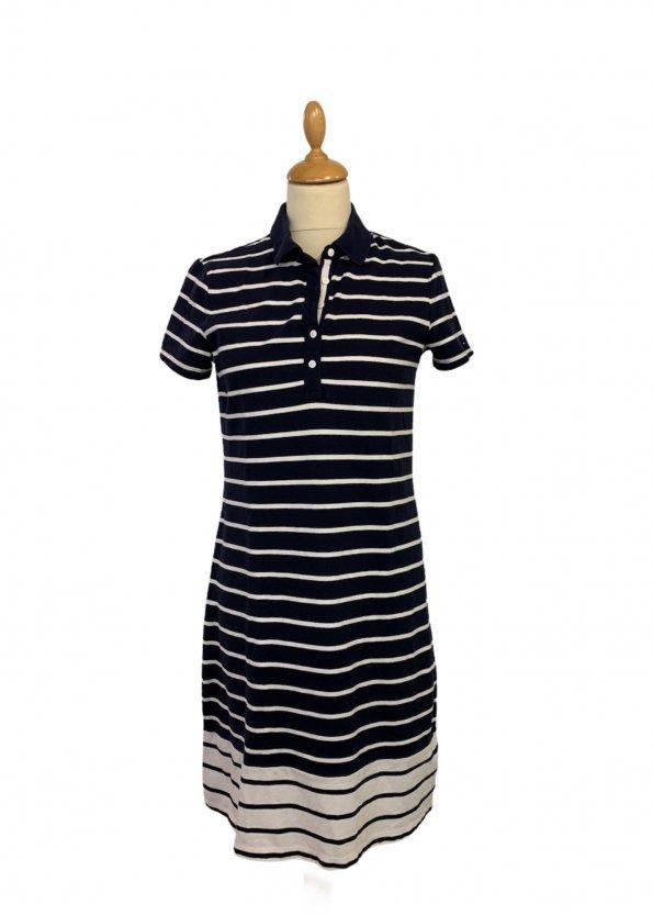 שמלה פולו פסים כחול לבן - TOMMY HILFIGER 1
