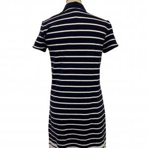 שמלה פולו פסים כחול לבן - TOMMY HILFIGER 2
