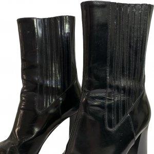 מגפיים עור שחור מבריק עם עקב ושפיץ - Dolce & Gabbana 3