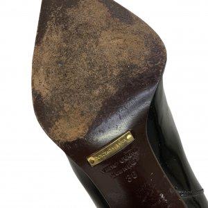 מגפיים עור שחור מבריק עם עקב ושפיץ - Dolce & Gabbana 8