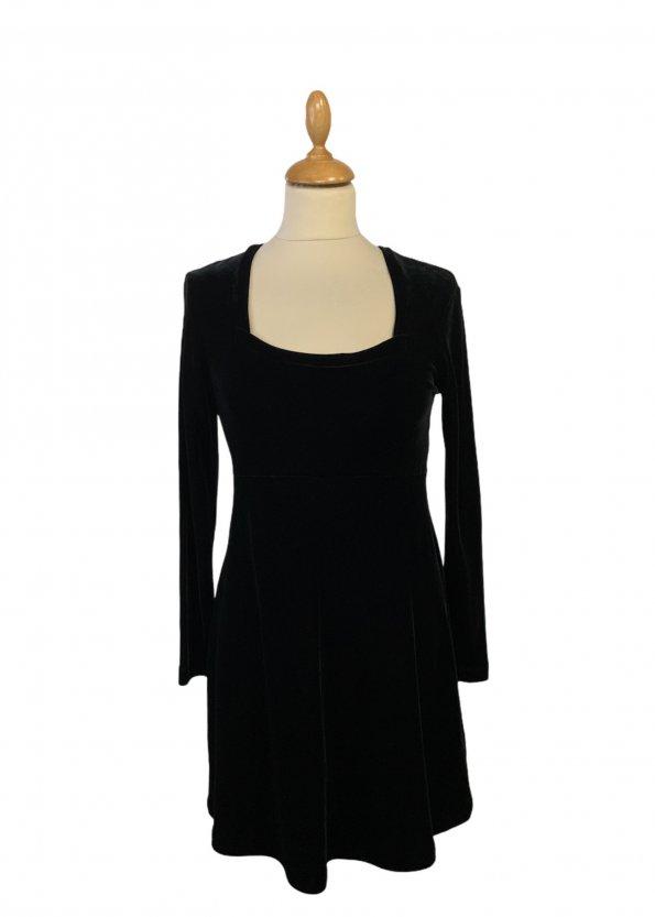 שמלת קטיפה שחורה - BCBG Dresses 1