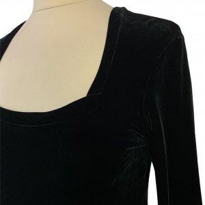 שמלת קטיפה שחורה - BCBG Dresses 3