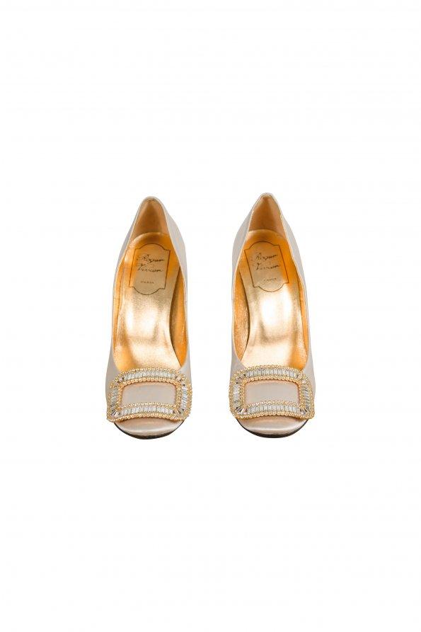 נעלי עקב פנינה עם ריבוע יהלומים - Roger Vivier 1