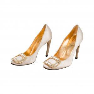 נעלי עקב פנינה עם ריבוע יהלומים - Roger Vivier 2