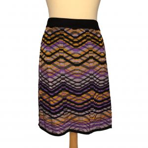 חצאית סריג גלים שחור כתום סגול missoni 3