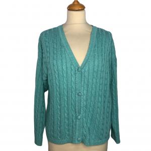 סוודר קרדיגן בצבע תכלת honigman 5
