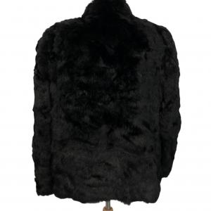 מעיל פרווה אמיתי בשחור 2