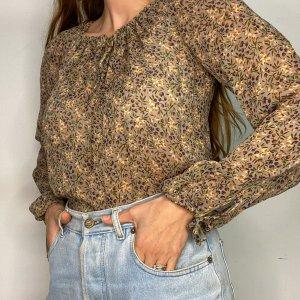 חולצת בוהו שקופה בצבע חום עם פירות ופרחים - TWIN-SET 2