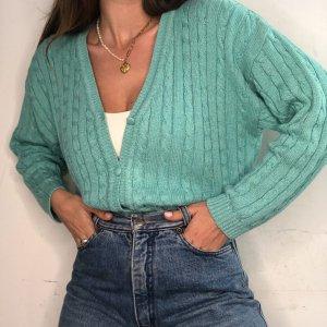 סוודר קרדיגן בצבע תכלת honigman 3