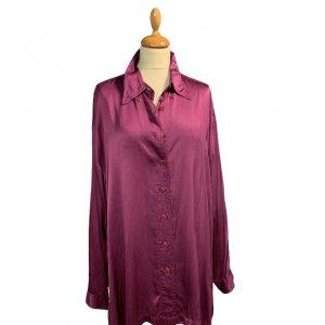 חולצת פוקסיה מכופתרת ארוכה 4