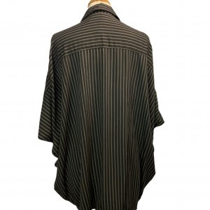 חולצת oversize מכופתרת עם פסים חומים - Ronen Chen 4
