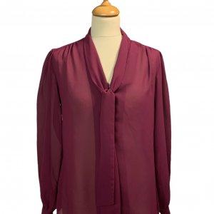 חולצה מכופתרת שיפון סגולה 3