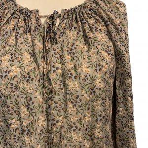 חולצת בוהו שקופה בצבע חום עם פירות ופרחים - TWIN-SET 7