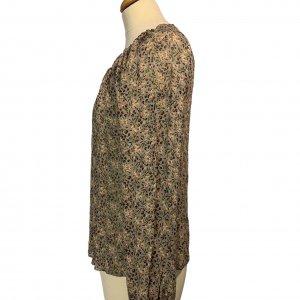 חולצת בוהו שקופה בצבע חום עם פירות ופרחים - TWIN-SET 6