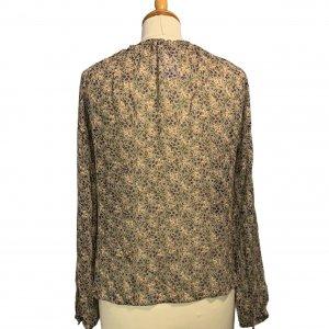 חולצת בוהו שקופה בצבע חום עם פירות ופרחים - TWIN-SET 5
