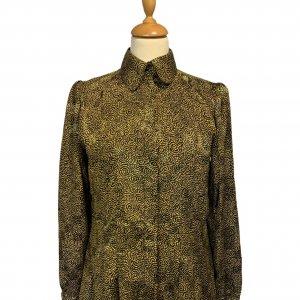 חולצה צהוב שחור - וינטג׳ - Stuart Lang 4