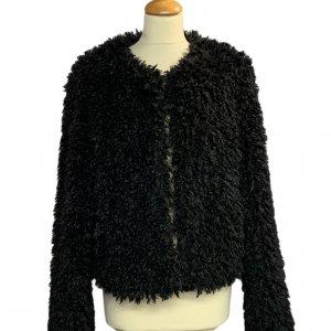 מעיל דמוי פרווה שחור UGG 5