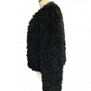 מעיל דמוי פרווה שחור UGG 4