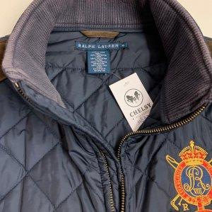 וסט כחול כהה עם זמש וסמל מלכותי - Ralph Lauren 6