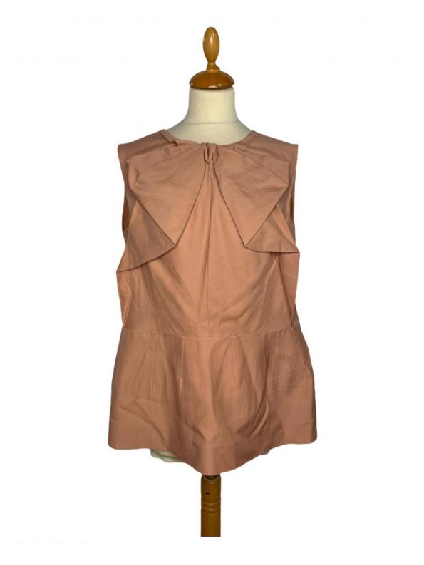 חולצה קצרה עם פפיון בצבע ורוד פודרה marni 1