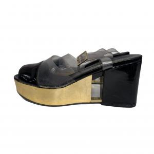 נעלי פלטפורמה שחור ושקוף chanel 2