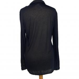 חולצת טריקו שחורה עם כיווצים burberry 3