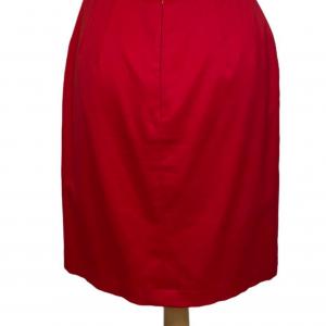 חצאית צמודה גזרה גבוהה בצבע אדום escada 2