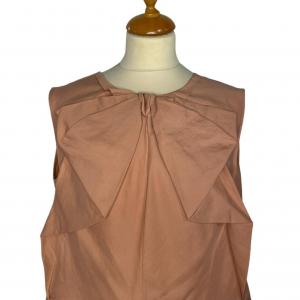 חולצה קצרה עם פפיון בצבע ורוד פודרה marni 2