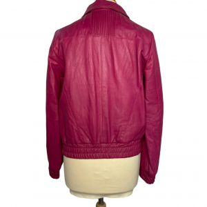 ג׳קט עור בצבע ורוד פוקסיה pepe jeans 4