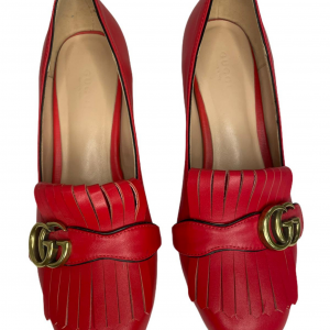 נעלי מוקסין עם עקב אדומות עם אבזם זהב GUCCI 5