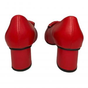 נעלי מוקסין עם עקב אדומות עם אבזם זהב GUCCI 4