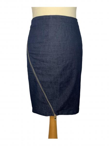שמלה מכופתרת כחול כהה עם צאורון שחור - Paper 8