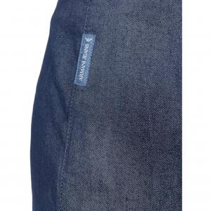 חצאית צמודה ג׳ינס כחול כהה רוכסן בצד ימין למטה armani 3