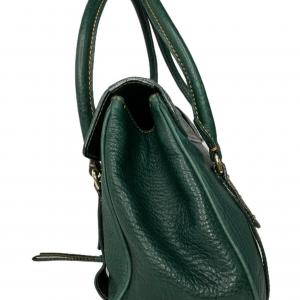 תיק יד / צד בצבע ירוק עמוק עם תיפורים בצבע חרדל dolce&gabbana 3