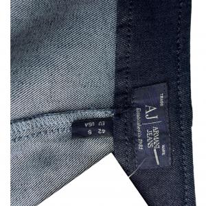 חצאית צמודה ג׳ינס כחול כהה רוכסן בצד ימין למטה armani 4