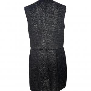 שמלה ללא שרוולים עם רוכסן ודמוי קשקשים בצבע שחור מבריק vera wang 4