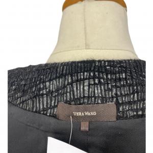שמלה ללא שרוולים עם רוכסן ודמוי קשקשים בצבע שחור מבריק vera wang 3