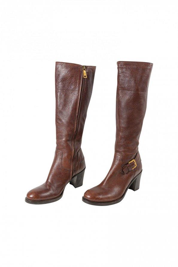 מגפיים חומות - Prada 1