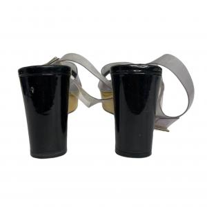 נעלי פלטפורמה שחור ושקוף chanel 4