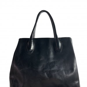 תיק כתף שחור עור עם תליון זהב - FURLA 3
