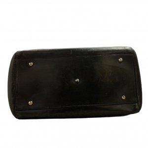 תיק כתף שחור עור עם תליון זהב - FURLA 4