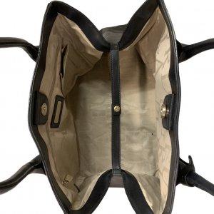 תיק כתף שחור עור עם תליון זהב - FURLA 6