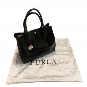 תיק כתף שחור עור עם תליון זהב - FURLA 7