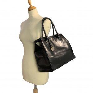 תיק כתף שחור עור עם תליון זהב - FURLA 2