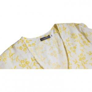 טוניקה שמנת פרחים רקומים בצהוב - TAMAR MARCOVITZ 3
