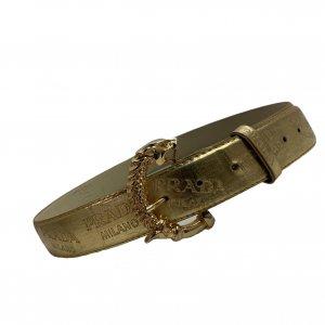 חגורה זהב prada 2