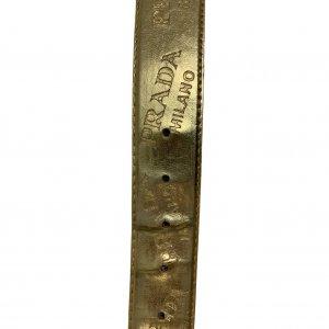 חגורה זהב prada 11