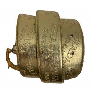 חגורה זהב prada 8