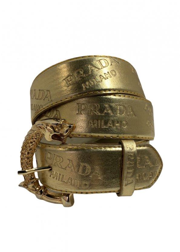 חגורה זהב prada 1