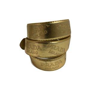 חגורה זהב prada 9